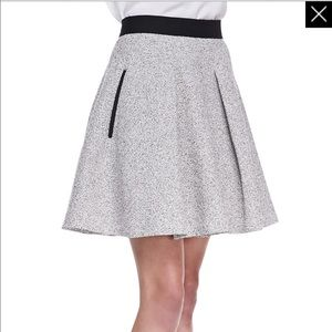 French Connection Gray and Black Tweed Skirt